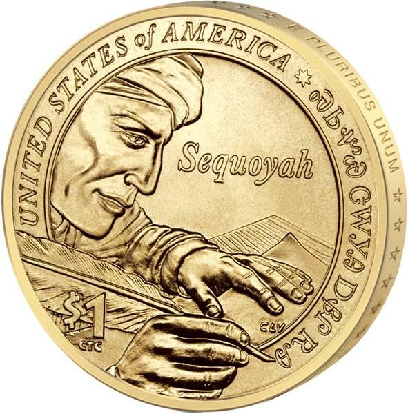 1 Dollar USA Sequoyah Cherokee 2017