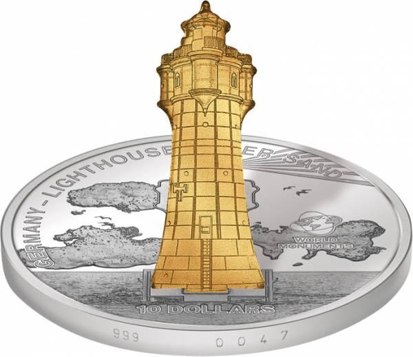 10 Dollars Cook-Inseln Deutschland Leuchtturm Roter Sand 2012 Polierte Platte (PP)
