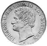 Taler Ausbeutevereinstaler Johann 1858-1859 Vorzüglich