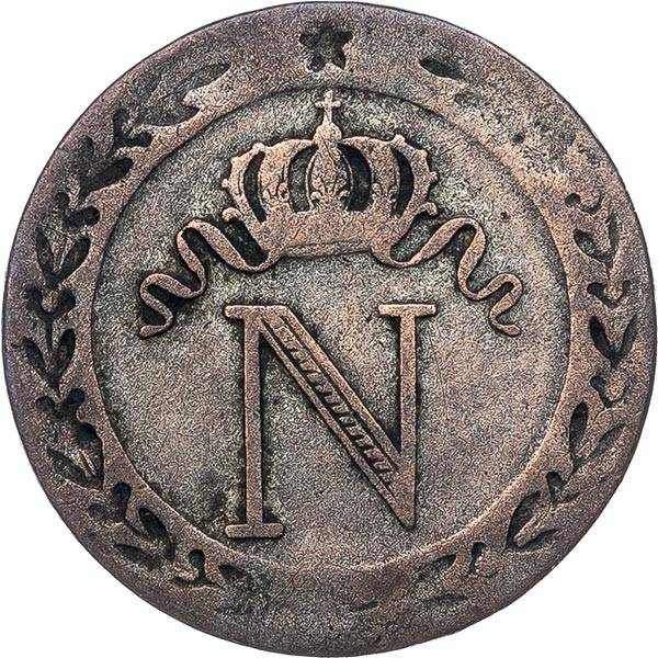 10 Centimes Frankreich Napoleon Bonaparte 1808 - 1810