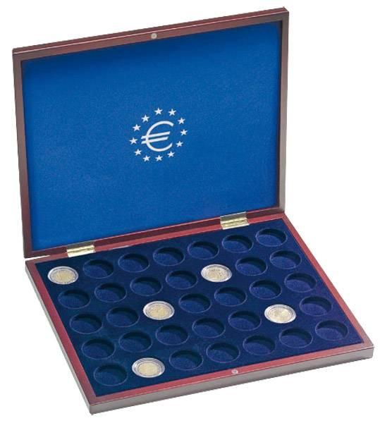 Holz-Münzkassette für 35 x 2-Euro Münzen