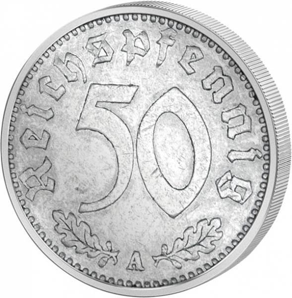 50 Reichspfennig Hakenkreuz 1939-44 sehr schön