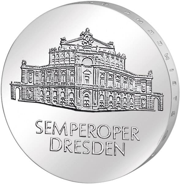10 Mark  Semperoper Dresden 1985 A Stempelglanz