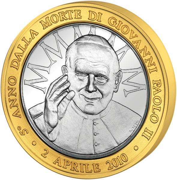 Gedenkprägung 5. Todestag Johannes Paul II.