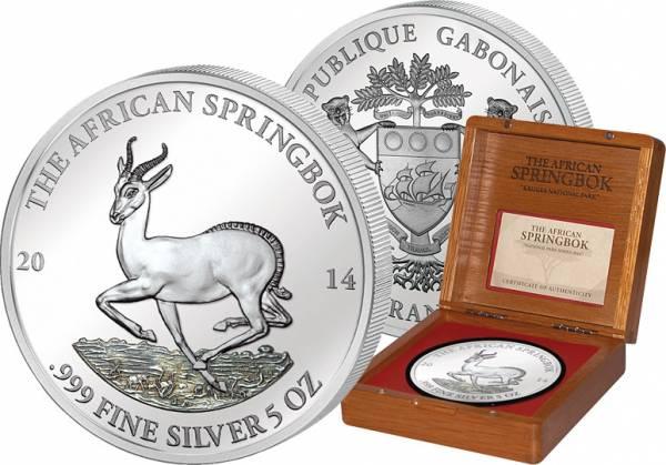 3.000 Francs CFA Gabun Springbock 2014 PP