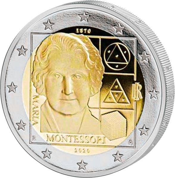 2 Euro Italien 150. Todestag Maria Montessori 2020
