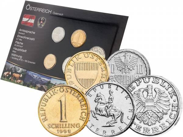 Schilling-Kursmünzensatz Österreich 1951 - 2001