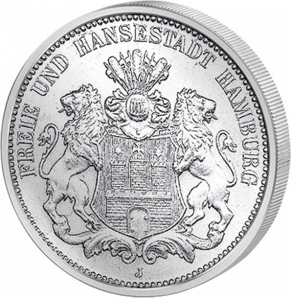 2 Mark Hamburg kleiner Reichsadler 1876-1888 s-ss