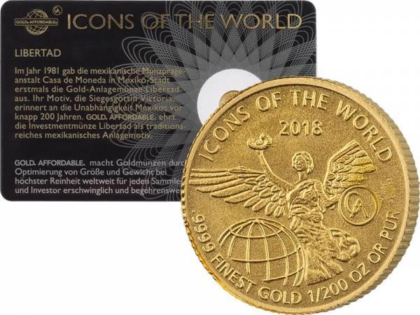 1/200 Unze Gold Ruanda Libertad 2018