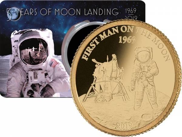 10 Dollars Barbados Erster Mensch auf dem Mond 2019