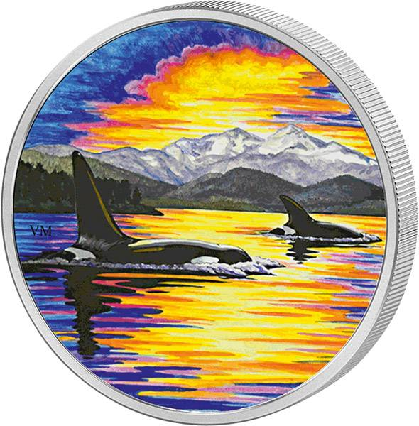 30 Dollars Kanada Animals in the Moonlight Orca 2017