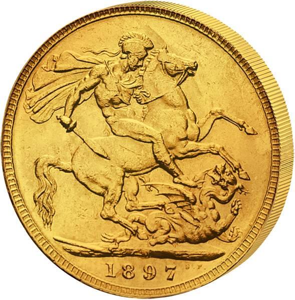 1 Sovereign Großbritannien Victoria 1893-1901 Sehr schön