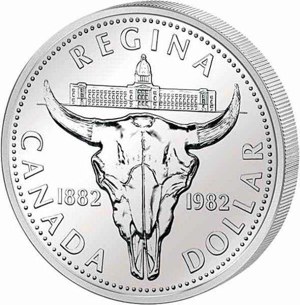 1 Dollar Kanada Bison