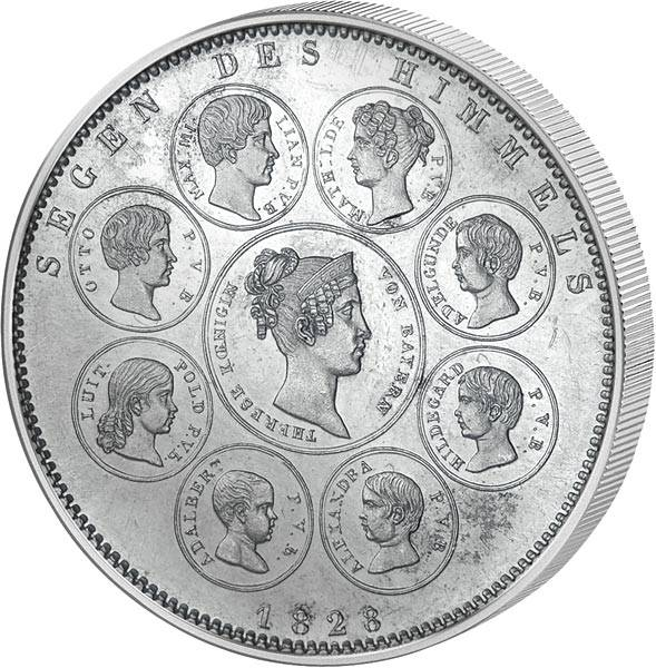 Geschichtstaler Bayern König Ludwig I. Segen des Himmels 1828