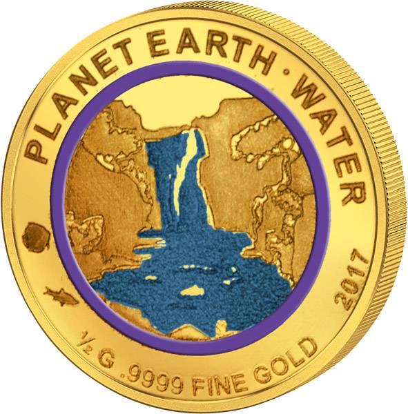 100 Francs Niger Planet Erde Wasser 2017