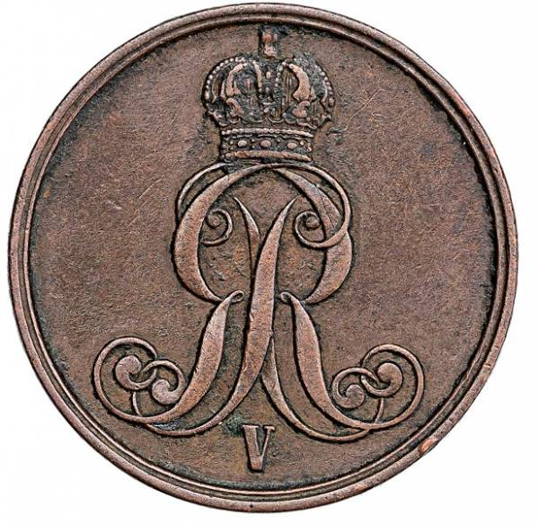 2 Pfennig Hannover König Georg V. 1852-1856