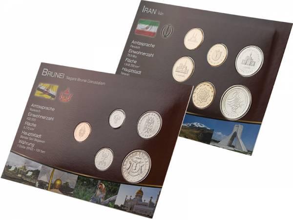 Premium-Kursmünzen-Set Iran und Brunei