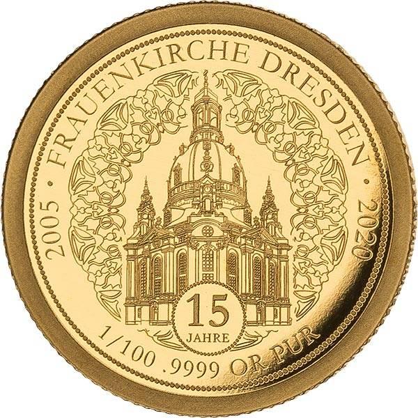 100 Francs Kongo 15 Jahre Frauenkirche Dresden 2020