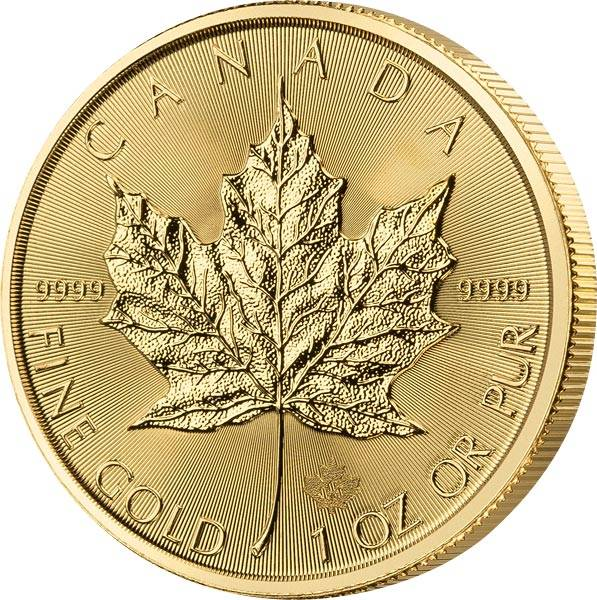1 Unze Gold Kanada Maple Leaf 2020