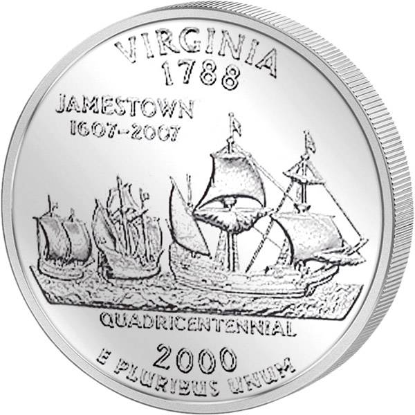 Quarter Dollar USA Virgina 2000