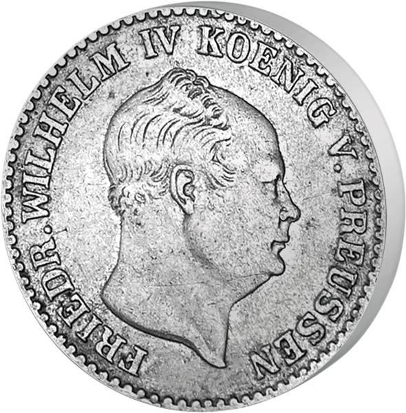 2 ½ Silbergroschen König Friedrich Wilhelm IV.  1853-1860 sehr schön