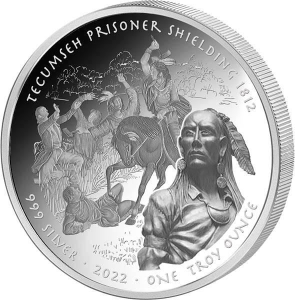 1 Dollar USA Häuptling Tecumseh rettet Gefangene 2021