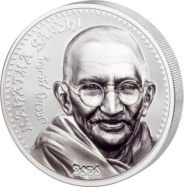 1.000 Togrog Mongolei Mahatma Gandhi 2020