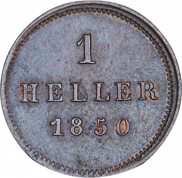 1 Heller Bayern König Maximilian II. 1849 - 1856