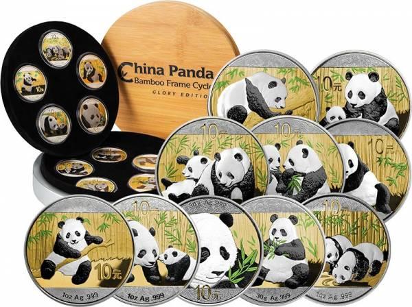 10 x 10 Yuan China Panda Bamboo Cycle Glory Edition