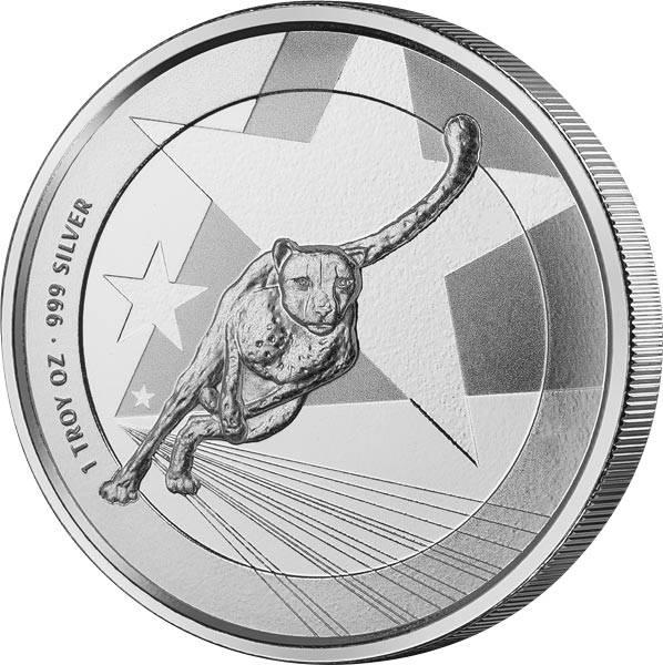 1 Unze Silber Kamerun Gepard 2019