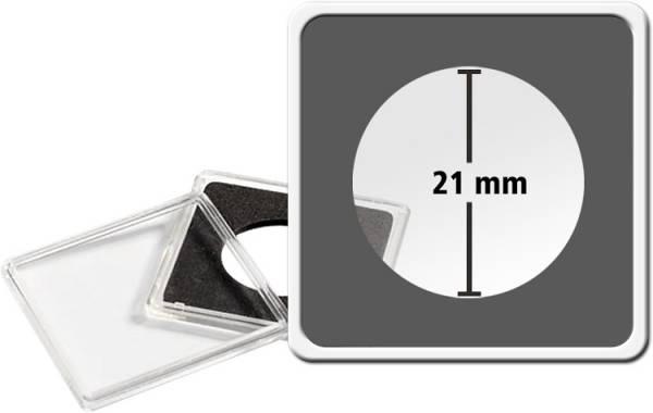 10er-Pack QUADRUM-Münzkapsel Durchmesser 21 mm