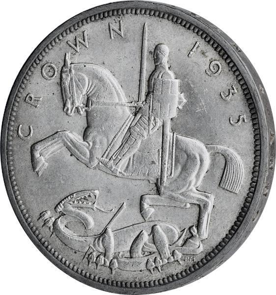 1 Crown Großbritannien König Georg V. 1935