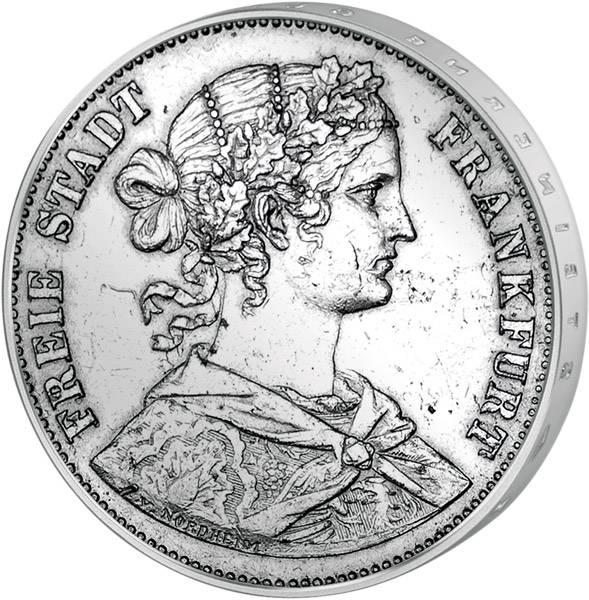Vereinstaler  Freie Reichsstadt Frankfurt Frankofortia  1859-1865 ss-vz