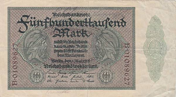 500.000 Mark Reichsbanknote 1923
