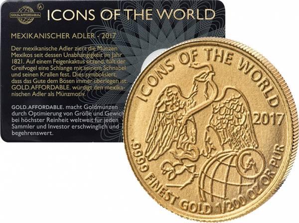 1/200 Unze Gold Ruanda Mexikanischer Adler 2017