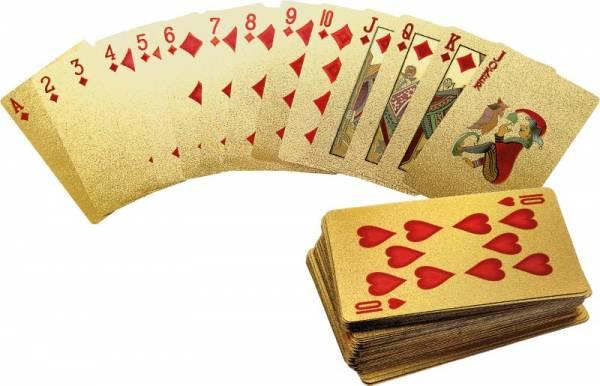 Goldenes Kartenspiel mit 54 Karten