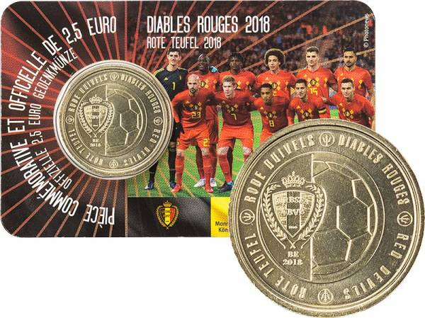 2,5 Euro Belgien Belgische Nationalmannschaft 2018