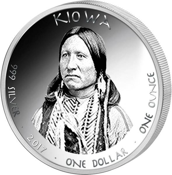 1 Dollar USA Native State Dollar Kiowa Krötenechse Wyoming 2017