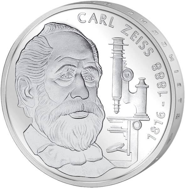 10 DM BRD  Carl Zeiss 1988 F vorzüglich