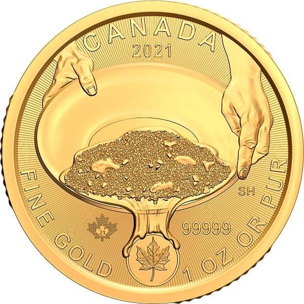 1 Unze Gold Kanada Goldwaschen 2021