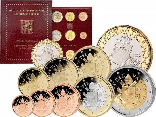 Euro-Kursmünzensatz Vatikan 2021 inklusive 5-Euro-Gedenkmünze