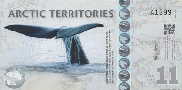 11 Dollars Arktische Territorien Blauwal