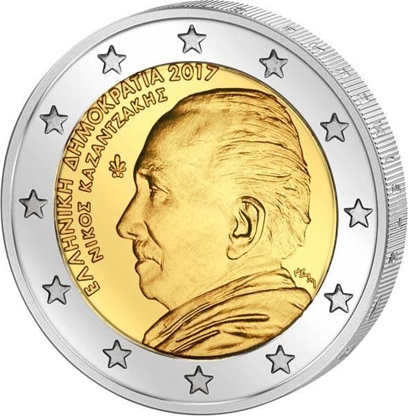2 Euro Griechenland Nikos Kazantzakis 2017