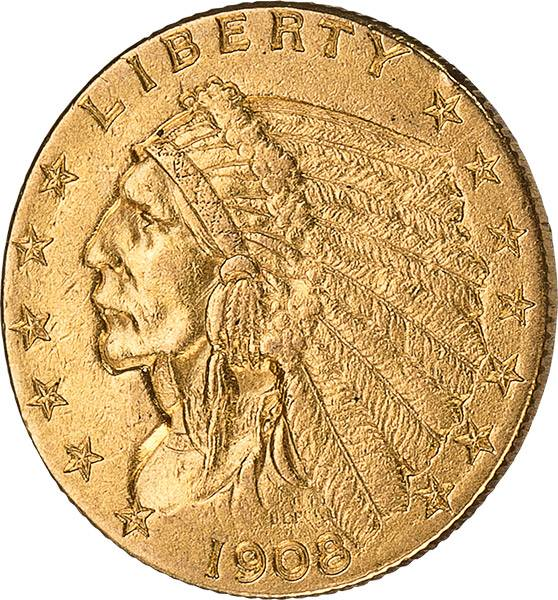 2,5 Dollars USA Indian Head 1908