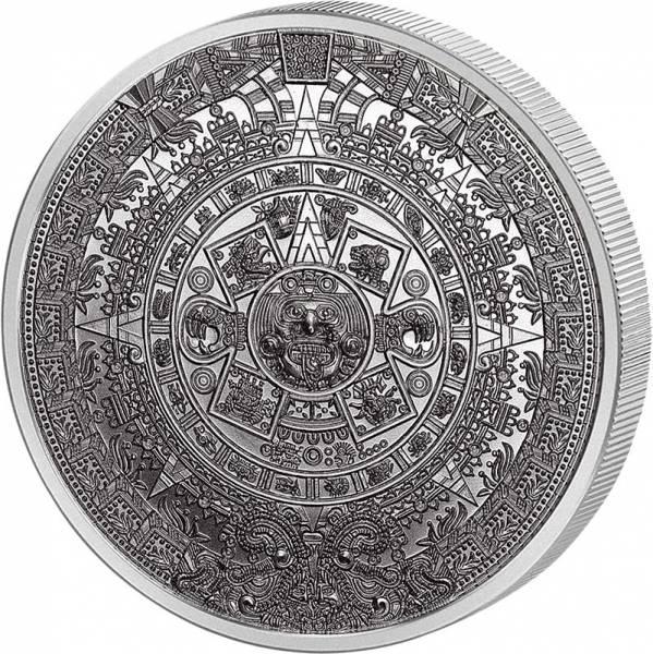 1 Unze Silber Gedenkprägung Aztekenkalender
