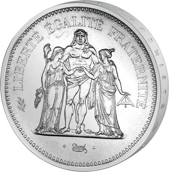 50 Francs Frankreich Herkules 1974-1980 vorzüglich