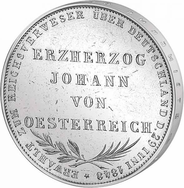 Taler Doppelgulden Johann von Österreich 1848  ss-vz