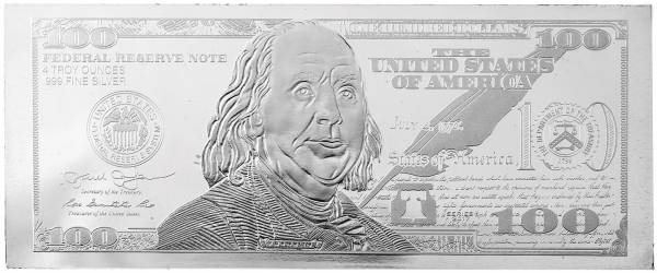 4 Unzen Silber USA 100-Dollar-Note 2017