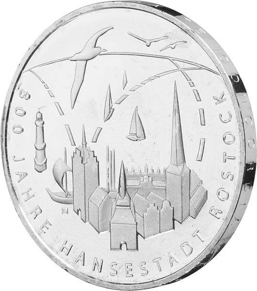 20 Euro BRD 800 Jahre Hansestadt Rostock 2018
