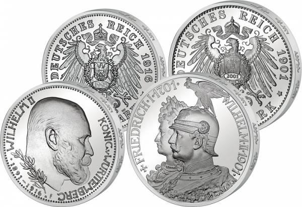 3 Mark und 5 Mark  Wilhelm II. v. W. und Friedrich I. Wilhelm II. Preußen 1995/2011 Vorzüglich